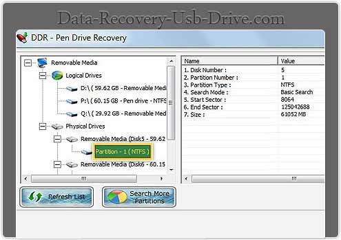 Advance recovery program regain missing data