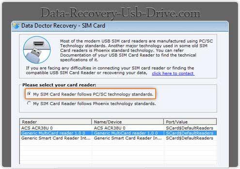 Free SIM card data restoration program