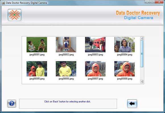 Canon Digital Camera Photo Recovery screen shot