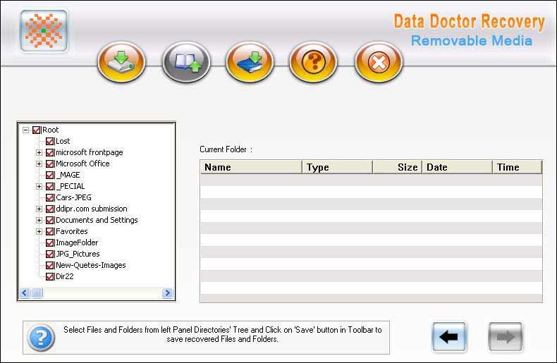 Removable Media Files Undelete screen shot