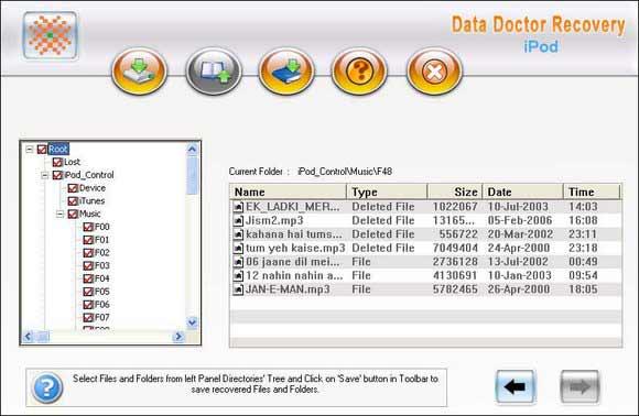 iPod Lost Content Retrieval Utility screen shot